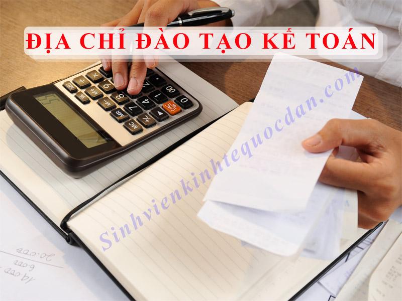 Địa chỉ đào tạo kế toán
